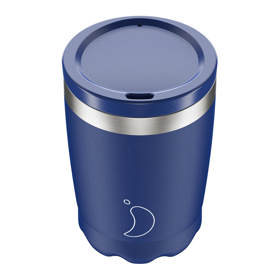 Термокружка coffee cup 340 мл matte blue, Chilly's Bottles, арт: C340MABLU